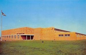 Fairfield Iowa~Iowa National Guard Building~1960s Postcard