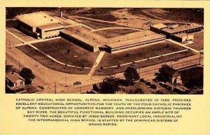 Michigan Alpena Catholic Central High School Albertype