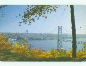 Pre-1980 BRIDGE SCENE Highland New York NY HJ0869