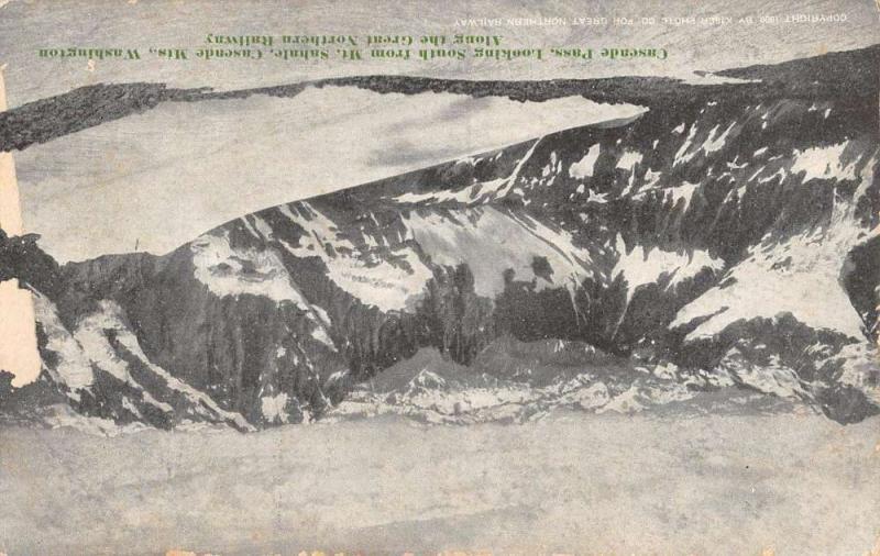 Sahale Washington Cascade Pass Great Northern Railway Antique Postcard K86330