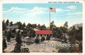 Boys' Scout Lodge Cheyenne, Wyoming, USA Postcards Post Cards Old Vintag...
