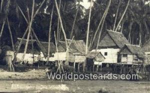 Malaysia, Malaya  Malay Fishing Village Real Photo