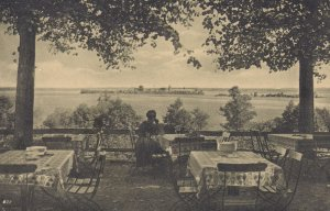 Schlobhotelgarten Herreninsel Chiemsee Lake Hotel Garden Bavaria Antique Post...