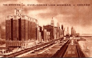 Illinois Chicago The Stevens Hotel Overlooking Lake Michigan