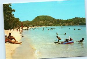 *Martinique Sainte Anne Pointe Marin Sand Beach Caribbean Vintage Postcard A24