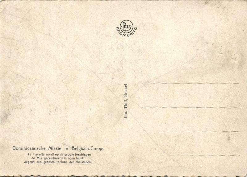 belgian congo, FARADJE, Dominican Mission, Open Air Mass (1950s)
