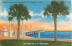 Bridge of Lions across Matanzas Bay St. Augustine FL Florida