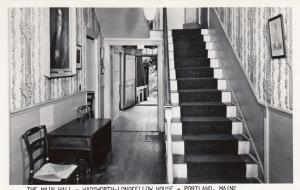 RP: PORTLAND , Maine , 1954 ;  The Main Hall, Wadsworth Longfellow House