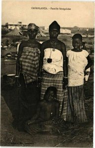 CPA AK Senegal-Casablanca-Famille Sénégalaise (235336)