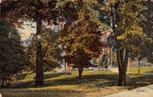 Morgantown West Virginia University College Campus Antique Postcard K34390
