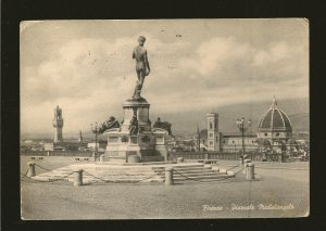 Postmarked 1952 Firenze Italy Piazza Michelangelo Postcard