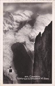 France Chamonix Teleferique du Brevent et Mont Blanc Real Photo