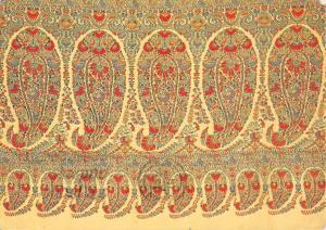 B101726 paisley long shawl museum paisley  postcard  scotland