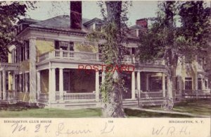 pre-1907 BINGHAMTON CLUB HOUSE, BINGHAMTON, N. Y. 1906