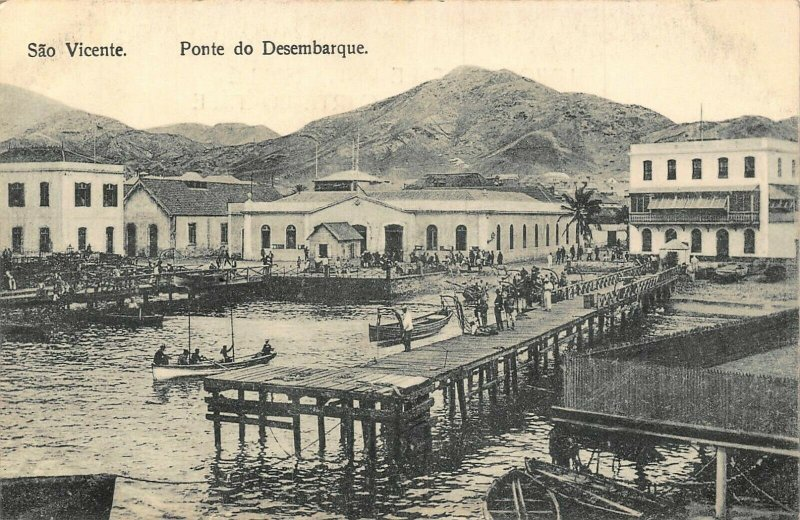 Cabo Verde Sao Vincente Ponte de Desembarque postcard