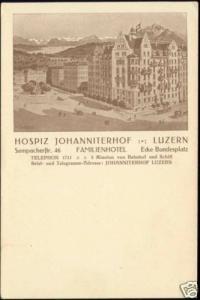 switzerland, LUCERNE LUZERN, Hospiz Johanniterhof 1910s