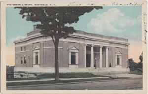 New York NY Postcard 1924 WESTFIELD Patterson Library Building
