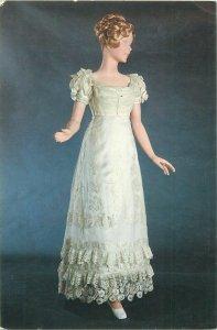 Parisian fashion postcard costume robe de mariee wedding dress bride model