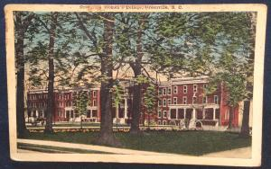 Postcard Used w/Corner Crease Women's College Greenville SC LB