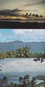 (3 cards) Truk Lagoon, Chuuk, Micronesia - Pacific Sunset and Island Views