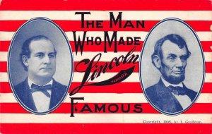 Lincoln Nebraska Patriotic President Lincoln Vintage Postcard JI658545