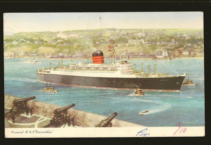 Cunard RMS Carinthia Color Postcard Unposted