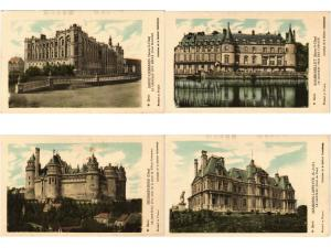 CASTLES CHATEAUX FRANCE 130 CPA COLLECTION PAUTAUBERGE