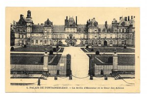 France Palais Fontainebleau Grid of Honor Court of Farewells Vintage Postcard