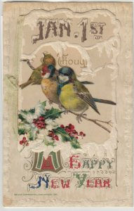 WINSCH NEW YEAR Booklet  , 1911 ; Flowers & Birds , Note pad inside