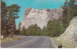 Post Card South Dakota Mount Rushmore Black Hills approach