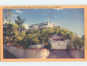Linen WRIGLEY MANSION Catalina California CA d1664