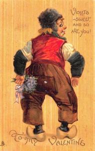 Raphael Tuck My Valentine Violets Brundage Remembrance Series # 1034 Postcard