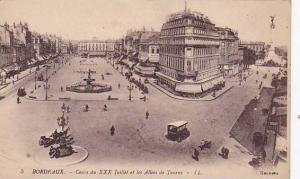 Cours Du XXX Juillet Et Les Allees De Tourny, Bordeaux (Gironde), France, 190...