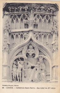 France Lisieux Cathedrale Saint-Pierre Bas-relief du XV siecle