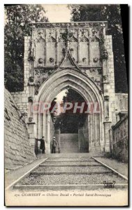 Old Postcard Chambery Chateau Ducal Portal St. Dominic