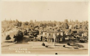 RP: ALBANY , Oregon, 1910s-30s ; Gas Station & Allen's Camp