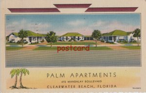 1939 PALM APARTMENTS Clearwater FL J. Ward Palmer Owner, to Mr. Vernon Witmer
