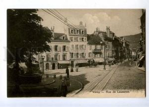 191157 SWITZERLAND VEVEY Rue de Lausanne street ADVERTISING