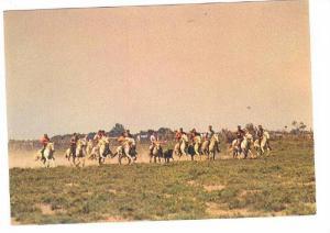Horse riding in open plain, LA CAMARGUE, Pays de ciel bleu et de mirages Ch...