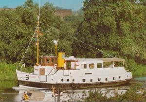 MS Forelle Hangkamp 4 Este Reederei GMBH German Ship Steamer Postcard