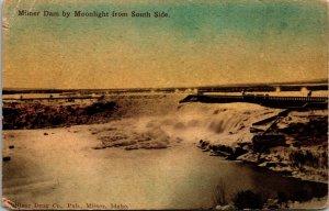 Milner Falls Idaho Dam Water Tower Antique Postcard VINTAGE