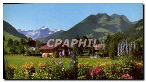 Postcard Modern Garden Parkhotel Reuteler Gstaad