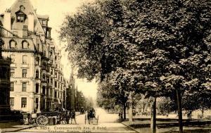 MA - Boston. Commonwealth Avenue & Hotel Vendome