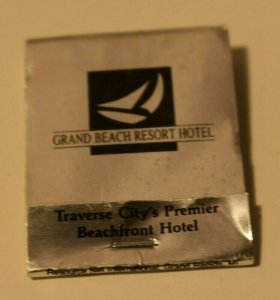 Grand Beach Resort Hotel Traverse City Michigan 20 Strike Silver Matchbook