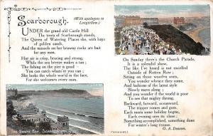 England Scarborough, The South Bay, Castle Hill, G.A. Deacon, Souvenir