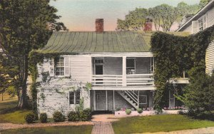 Ash Lawn, Home of James Monroe, Charlottesville, VA, Early Hand Colored Postcard