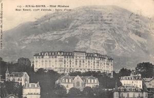 France Aix-les-Bains - Hotel Mirabeau Mont Revard 1550 m Sports d'hiver 1912