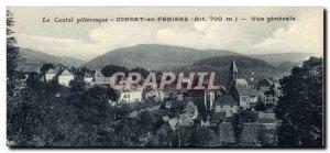 Old Postcard Condat in Feniers Vue Generale