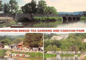 uk6218 houghton bridge tea gardens and caravan park  uk