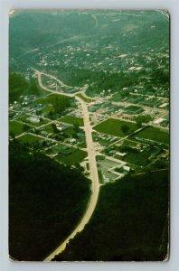 Paintsville KY-Kentucky, Aerial View, Chrome Postcard